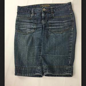 Arizona Jeans Size 8 Reg Shorts Denim Women's